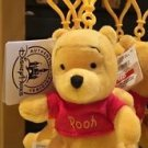 DISNEY PARKS WINNIE THE POOH PLUSH DANGLING KEYCHAIN NEW WITH TAGS