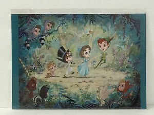 Disney WonderGround Gallery Peter Pan Parade Postcard by John Coulter RARE NEW