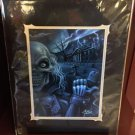 Disney Parks Haunted Mansion Ezra Hitchhiking Ghost Print By Craig Fraser New