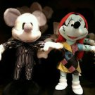 "DISNEY PARKS NIGHTMARE BEFORE CHRISTMAS MICKEY & MINNIE AS JACK & SALLY 9"" PLUSH"