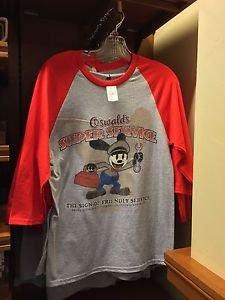 Disney Parks Oswald The Lucky Rabbit Super Service Tee Shirt Sizes: S,M,L,XL New