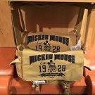 Disney Parks Messenger Canvas Bag Mickey Mouse Est. 1928 The Original Brand New