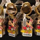 "Disney Parks Mickey Minnie Pluto Keychain ""Goofy / Grandma / Grandpa"" New"
