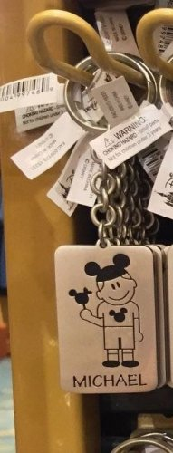 Disney Parks Boy with Ear Hat Metal Keychain Michael / Nathan / Alex New