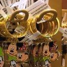 "Disney Parks Mickey Minnie & Goofy Initial Letter Keychain ""E / F"" New"