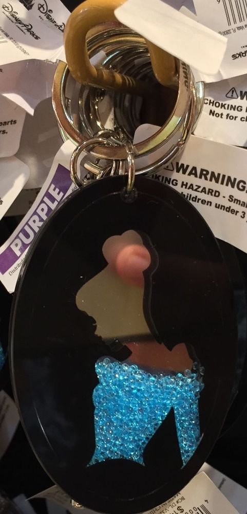 Disney Parks Cinderella Acrylic Crystals Keychain New With Tags