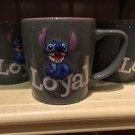 "Disney Parks Stitch Ceramic Mug Cup ""Loyal / Brave"" New"