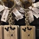 Disney Parks Girl with Ear Hat Metal Keychain Michelle / Natalie / Nicole New