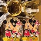 """Disney Parks Mickey Minnie Pluto Keychain """"Alex / Alexandra"""" New"""