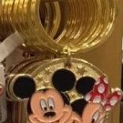 Disney Parks Mickey Minnie Pluto Keychain I Love Hockey New