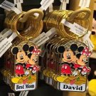 Disney Parks Mickey Minnie Pluto Keychain Best Mom / David New