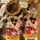 "Disney Parks Mickey Minnie Pluto Keychain ""#1 Hairdresser / Hope"" New with Tags"