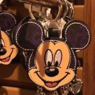 Disney Parks Stitched Mickey Mouse Keychain with Charm New