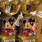 """Disney Parks Mickey Minnie Pluto Keychain """"Best Buddy"""" New With Tags"""