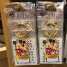 "Disney Parks Mickey Minnie Pluto Keychain ""Personalized Keychain"" New"