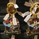 Disney Parks Pirate Mickey Metal Keychain Jacob / Best Buddy / Nathan / Jayden