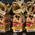 Disney Parks Mickey Minnie Pluto Keychain Rachel / Michelle / Princess New