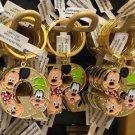 "Disney Parks Mickey Minnie & Goofy Initial Letter Keychain ""Q / R / S"" New"