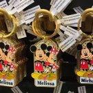 Disney Parks Mickey Minnie Pluto Keychain Jessica / Melissa / Melanie New