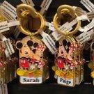 Disney Parks Mickey Minnie Pluto Keychain Sandra / Sarah / Paige / Sophia New