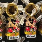 Disney Parks Mickey Minnie Pluto Keychain Maria / Melissa / Michael / Mary New