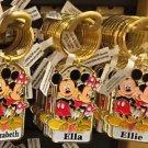 "Disney Parks Mickey Minnie Pluto Keychain ""Elizabeth / Ella / Ellie"" New"