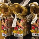 "Disney Parks Mickey Minnie Pluto Keychain ""#1 Tio / #1 Uncle / #1 Wife"" New"