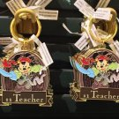 Disney Parks Pirate Mickey Metal Keychain #1 Son / #1 Teacher / #1 Tio New