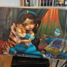 Disney WonderGround Princess Jasmine & Rajah Postcard by Jasmine Becket-Griffith