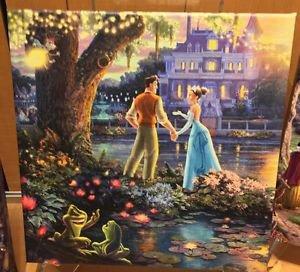 Disney Parks Princess Tiana & Naveen Canvas Wrap Print Thomas Kinkade Studios