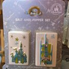 Disney Parks Salt & Pepper Shaker Set Retro Magic Kingdom Map Icons