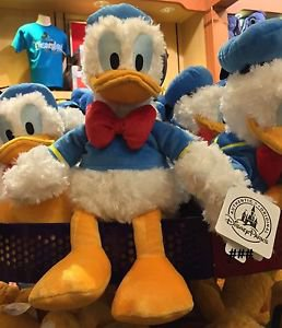 """Disney Parks Vintage Donald Duck Bean Bag 9"""" Plush New With Tags"""