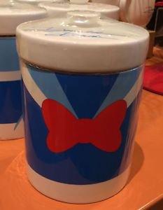 Disney Parks Signature Collection Donald Duck Ceramic Jar Multi Purpose New