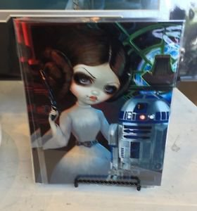 Disney WonderGround Gallery Princess Leia R2-D2 Postcard Jasmine Becket-Griffith
