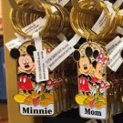 "Disney Parks Mickey Minnie Pluto Keychain ""Minnie / Mom"" New With Tags"