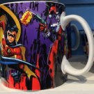 Six Flags Magic Mountain DC Batman / Robin Multi Character Ceramic Mug New