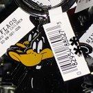 Six Flags Magic Mountain Looney Tunes Daffy Duck Metal Keychain New