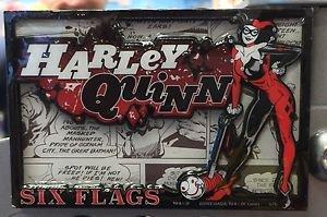 Six Flags Magic Mountain DC Villain Harley Quinn Magnet New