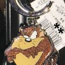 Six Flags Magic Mountain Looney Tunes Tasmanian Devil Glitter Keychain New