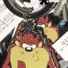 Six Flags Magic Mountain Looney Tunes Tasmanian Devil Metal Keychain New