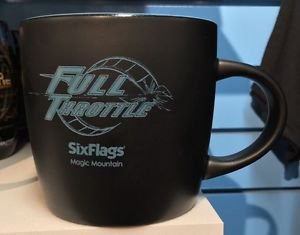 Six Flags Magic Mountain Full Throttle 12oz. Ceramic Mug Cup New