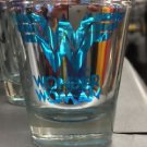 Six Flags Magic Mountain DC Wonder Woman Logo Electroplated Shot Glass New