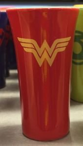 Six Flags Magic Mountain DC Wonder Woman Pastel Shot Glass New