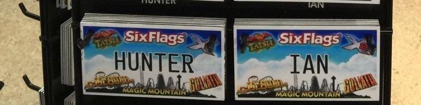 Six Flags Magic Mountain Name Magnet Hunter Ian New