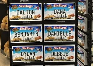Six Flags Magic Mountain Name Magnet Dalton Dana Benjamin Danielle Dylan Debbie