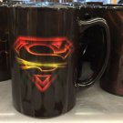 Six Flags Magic Mountain DC Superman Light Burst 14oz. Ceramic Mug Cup New
