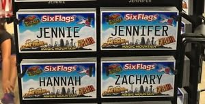 Six Flags Magic Mountain Name Magnet Jennie Jennifer Hannah Zachary New