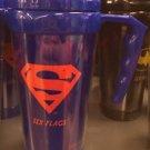 Six Flags Magic Mountain DC Superman 20oz. Blue / Red Travel Tumbler Mug New