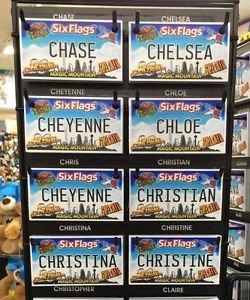 Six Flags Magic Mountain Name Magnet Chase Chelsea Cheyenne Christian Christina