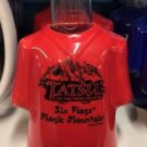 Six Flags Magic Mountain T-Shirt Shot Tatsu Ceramic Shot Glass New